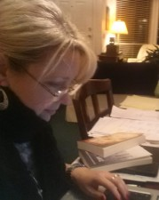 My Winnowing Life Part One Bethany at home writing